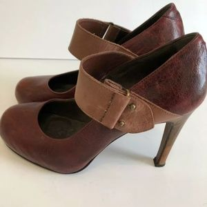 JOIE Womens Sz Euro 40 Brown MaryJane Heel Pump